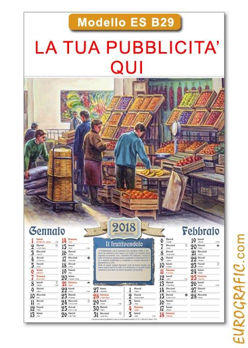 Calendario Illustrato.Calendari Da Muro Illustrati 2019 Promozionali