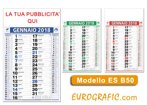 Calendario Olandese Da Stampare.Calendari Olandesi 2018 Personalizzati Promozionali Eurografic