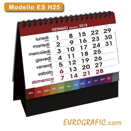Calendari da tavolo e scrivania illustrati 2018 eurografic - Calendari da tavolo 2018 ...
